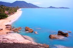 взгляд пункта пляжа длинний Стоковые Изображения