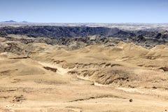 Взгляд пустыни в Намибии Стоковые Изображения RF