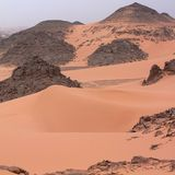 Взгляд пустыни Сахары Стоковые Фото