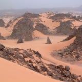 Взгляд пустыни Сахары Стоковые Изображения