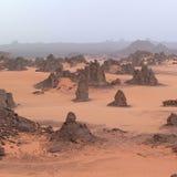 Взгляд пустыни Сахары Стоковые Изображения RF