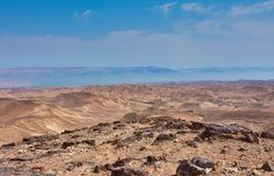 Взгляд пустыни Judean на Израиле стоковое фото