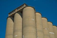 Взгляд раздела лифта зерна, аграрного comple объекта Стоковая Фотография RF