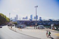 Взгляд района причала ` s Cowper Сиднея около пункта Potts стоковое изображение