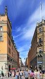 Взгляд района Стокгольма, Швеции - Norrmalm от старого квартала городка Стоковые Фотографии RF