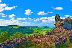 Взгляд раннего утра замка Peckforton, Чешира, Англии стоковое изображение rf