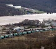 взгляд реки города Стоковые Фотографии RF