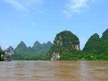 взгляд реки горы lijiang Стоковые Фотографии RF