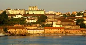 Взгляд реки Дуэро в Порту стоковое фото rf