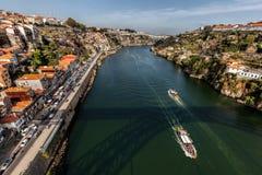 Взгляд реки Дуэро от моста Dom Луис i Стоковая Фотография RF
