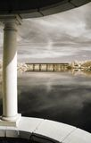 взгляд реки gazebo Стоковые Фото
