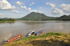 Взгляд реки Khong Стоковые Фотографии RF