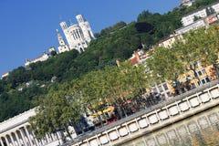 Взгляд реки Lyon и Saone Стоковое Изображение RF