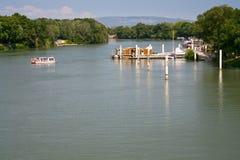 взгляд реки rhone стоковое изображение rf