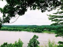 Взгляд Рекы Connecticut от замка Gillette стоковые изображения