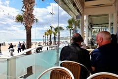 Взгляд ресторана, Benidorm, Испания стоковые фото