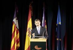 Взгляд речи короля felipe Испании широкий стоковое фото