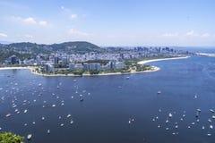 Взгляд Рио-де-Жанейро залива Guanabara стоковые фотографии rf