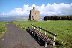 взгляд руины замока ballybunion Стоковые Фотографии RF