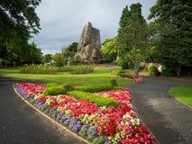 Взгляд руин замка Bridgnorth, долгая выдержка, Шропшир, Великобритания Стоковая Фотография