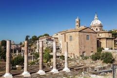 Взгляд руин римского форума rome Стоковое Фото
