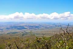 Взгляд саванны от вершины держателя Roraima стоковые фотографии rf