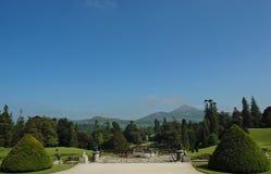 взгляд сада зеленый сногсшибательный Стоковая Фотография RF