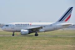 Взгляд самолета Air France Стоковые Фотографии RF
