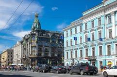 Взгляд Санкт-Петербурга, России Стоковое фото RF