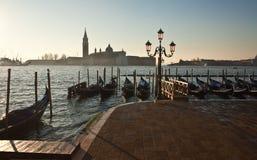 Взгляд Сан Giorgio Maggiore на свете утра. Венеция. Стоковая Фотография