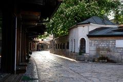 взгляд сараева города bascarsija старый стоковое изображение