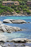 взгляд Сардинии свободного полета панорамный Стоковое Изображение RF