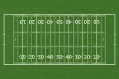 Взгляд сверху американского футбольного поля стоковая фотография rf