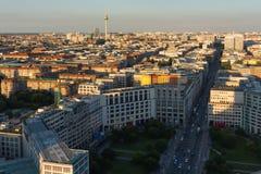 Взгляд сверху Берлина, Германии Стоковая Фотография RF