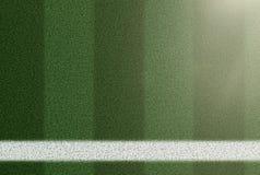 Взгляд сверху боковой линии на футбольном поле травы Стоковая Фотография