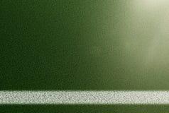 Взгляд сверху боковой линии на футбольном поле травы Стоковые Фото