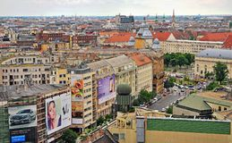 Взгляд сверху Будапешта городское, Венгрия Стоковые Фото