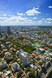 Взгляд сверху городского пейзажа Стоковое фото RF