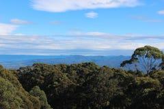 Взгляд сверху горы стоковые изображения