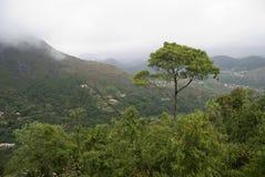 взгляд сверху горы стоковое изображение rf