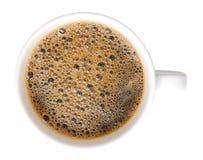 Взгляд сверху изолированной чашки Стоковое Фото