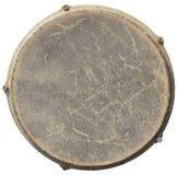 Взгляд сверху кожи барабанчика изолированное на белой предпосылке Стоковые Изображения