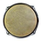 Взгляд сверху кожи барабанчика изолированное на белой предпосылке Стоковое Изображение