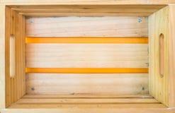 взгляд сверху коробки деревянный Открытый космос для объявлений и реклам Стоковые Изображения RF