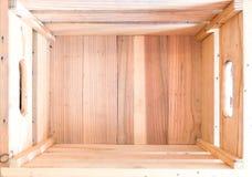 взгляд сверху коробки деревянный Открытый космос для объявлений и реклам Стоковое Изображение RF