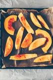 Взгляд сверху кусков тыквы Хоккаидо Стоковые Фотографии RF