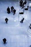 взгляд сверху людей выставки Стоковые Изображения RF