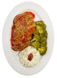 взгляд сверху мяса хлебца Стоковые Изображения RF