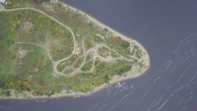 Взгляд сверху накидки на озере зажим Сногсшибательный взгляд озера и форланда от держателя стоковые изображения rf