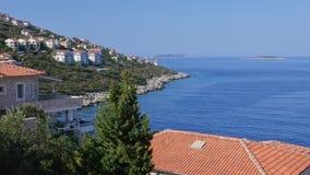 Взгляд сверху на Средиземном море Kas, Турция сток-видео